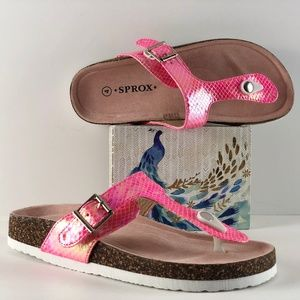 Sprox Frisco Reptile Embossed Pink Sandal